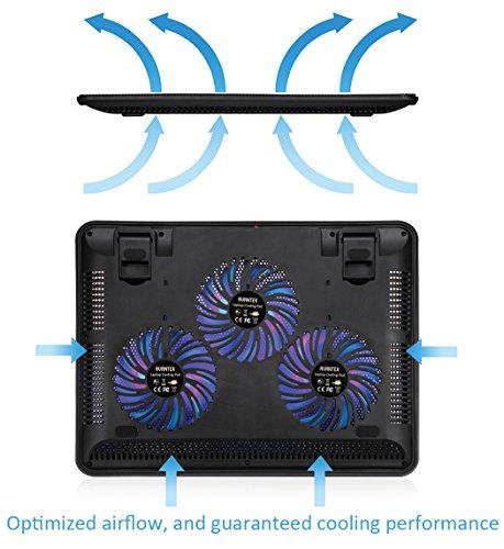AVANTEK 17 Zoll Laptop Kühlpad mit drei Lüftern