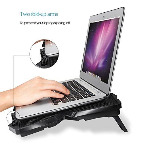 Laptop Kühler mit vier Lüftern